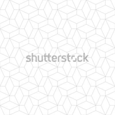 Sticker Motif géométrique abstrait avec passage de fines lignes. Texture élégante de couleur grise. Motif linéaire sans soudure.