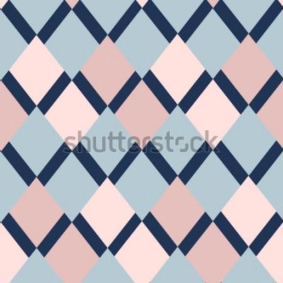 Sticker motif géométrique de losanges. motif géométrique. ornement ethnique sans soudure. Abstrait - lignes colorées. Illustration vectorielle