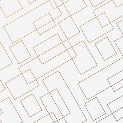 Sticker Motif géométrique de vecteur, répétant la forme de diamant carré linéaire mince et rectangle. Design épuré pour le papier peint en tissu peint. Le motif est sur le panneau d'échantillons