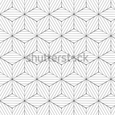 Sticker Motif géométrique noir et blanc, vecteur de fond.