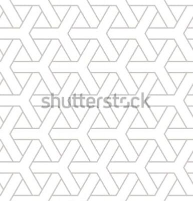 Sticker Motif géométrique sans soudure. Imprimé géométrique simple avec des éléments triples. Texture répétée de vecteur. Swatch hipster moderne. Fond répétitif minimaliste.