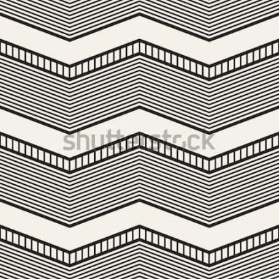Sticker Motif géométrique sans soudure. Zig zag rayures. Texture graphique vectorielle