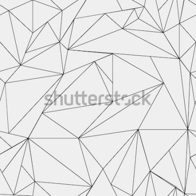 Sticker Motif minimaliste géométrique simple noir et blanc, triangles ou vitrail. Peut être utilisé comme papier peint, fond ou texture.