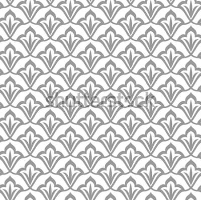 Sticker Motif ornemental. Modèle sans couture arabe. Fond marocain.