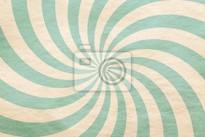 Sticker motif rétro sur papier