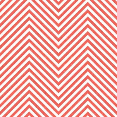 Sticker Motif rouge de zigzag. Vague, fond, vecteur