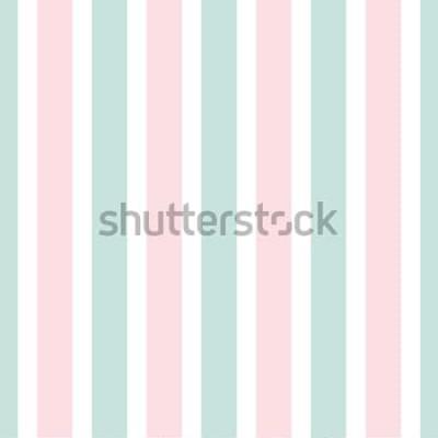 Sticker Motif sans soudure rayure géométrique de couleur rose et verte. Illustration de fête. Papier peint à lignes verticales. Fond d'emballage élégant.