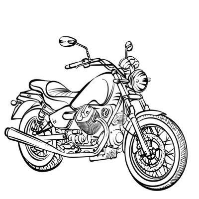 Sticker Moto classique