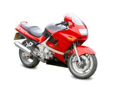 Sticker moto isolé