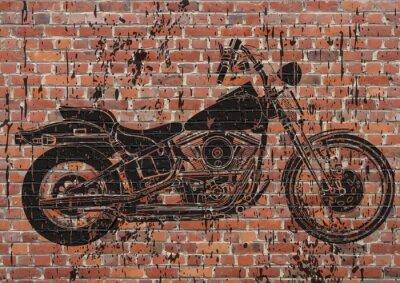 Sticker Moto sportster grunge