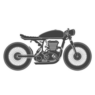 Sticker Moto vintage. Café, coureur, thème