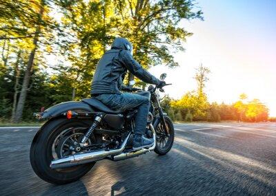 Sticker Motocycliste, équitation, hacheur, route