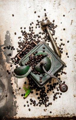 Sticker Moulin à café vintage avec pilon