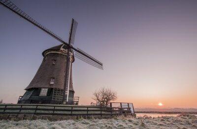 Sticker moulin d'hiver