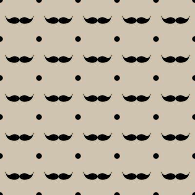 Sticker Moustache seamless modèle vecteur Illustration eps 10