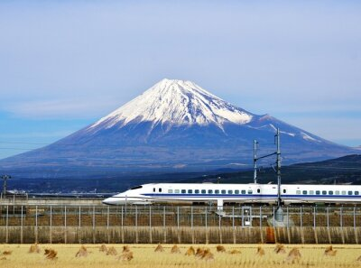 Sticker Mt. Fuji et le Bullet Train