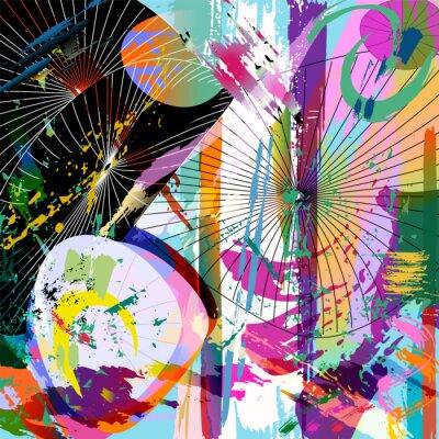 Sticker multicolore composition abstraite, format vectoriel