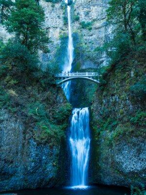 Sticker Multnomah Falls dans la Gorge-Britannique
