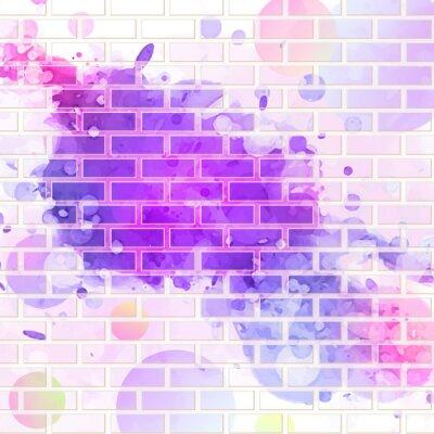 Sticker mur de brique, des graffitis