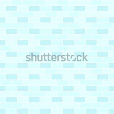 Sticker Mur de briques cyan. Fond de brique vectorielle continue
