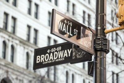 Sticker Mur plaque de rue à New York