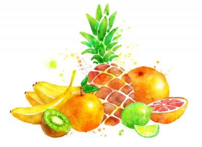 Sticker Nature morte avec des fruits.