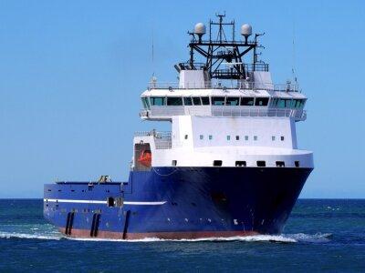 Sticker Navire de ravitaillement offshore F, navire de ravitaillement en mer en mer et en mer.