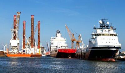 Sticker Navires dans le port