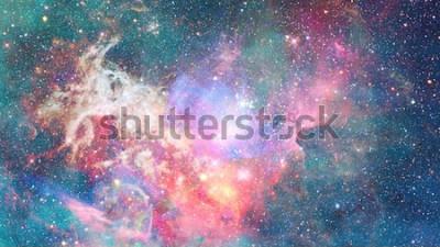 Sticker Nébuleuse dans l'espace. Fond cosmique. Éléments de cette image fournie par la NASA.