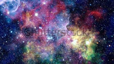 Sticker Nébuleuses colorées, galaxies et étoiles dans les profondeurs. Éléments de cette image fournie par la NASA.