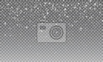 Sticker Neige Ralistic. Fond transparent de neige de Vectror. Décoration de Noël et du Nouvel An