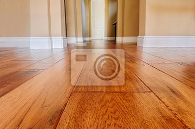 Sticker new hardwood floor