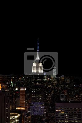 NEW YORK - 13 JUNE 2015: New York paysage urbain de la nuit de Rockfeller Centre