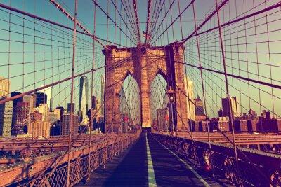 Sticker New York City à partir de Brooklyn Bridge