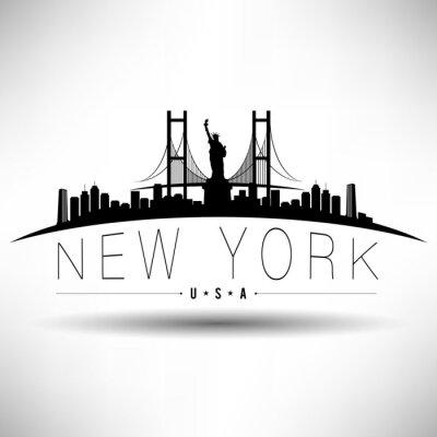 Sticker New York City Conception de typographie
