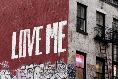 New York LOVE ME peinture sur le renforcement de Manhattan