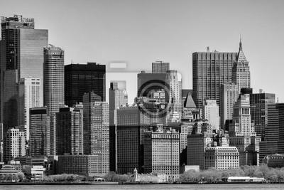 New York Manhattan vue en noir et blanc