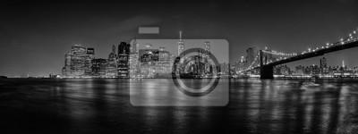 New York pont de Manhattan vue de nuit
