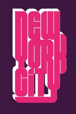 Sticker New York Sport porter l'emblème de la typographie, des graphiques de timbre t-shirt