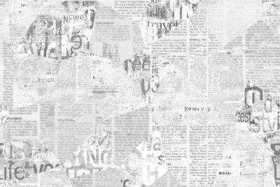 Sticker Newspaper paper grunge vintage old aged texture background