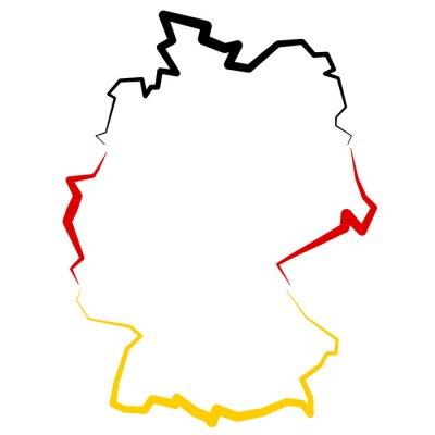 Sticker Niemcy - carte