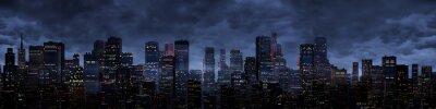 Sticker Night city panorama