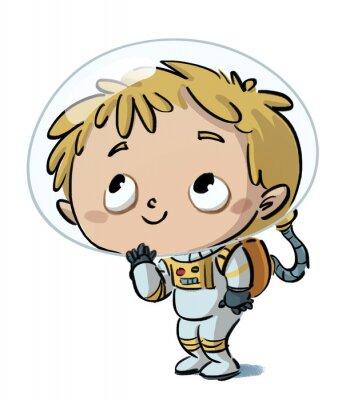 Sticker niño astronauta
