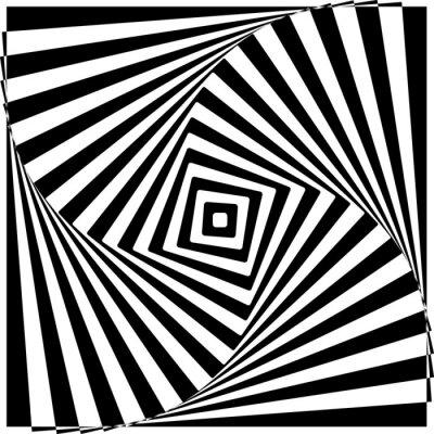 Sticker Noir et Blanc Illusion optique illustration vectorielle.