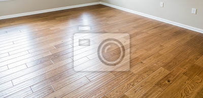 Sticker Nouveau plancher de bois franc brillant