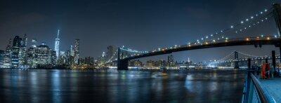 Nouveau, york, Cityscape, nuit, vue, brooklyn