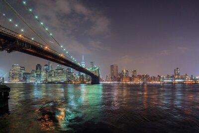Nouveau, york, nuit, vue, brooklyn