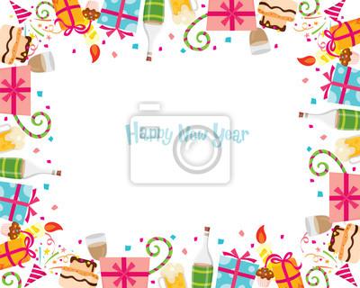 Bonne Annee Joyeux Noel.Sticker Nouvel An Bonne Annee Joyeux Noel Noel Objets Fete Celebrations