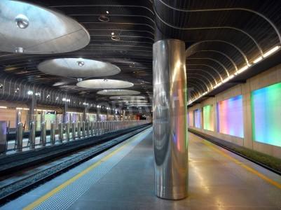Sticker Nouvelle station de train - l'architecture Auckland