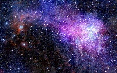 Sticker nuage de gaz de nébuleuse dans l'espace profond